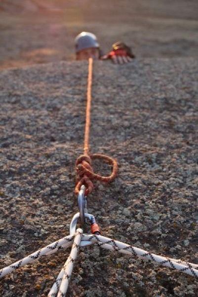 rock climbing rope